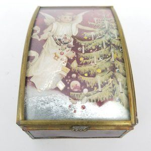 Angel Christmas Holiday Hinged Jewelry Box